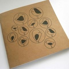 Nesting Birds Notebook Blank 120mm x 120mm