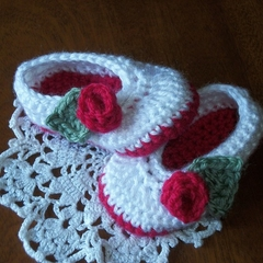 Little Lady Slippers - Bootees - Baby Shoes- Christmas