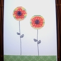 Button Flower Card (stripes)