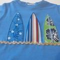 Appliqued Boys Tee Surf n Sand size 1