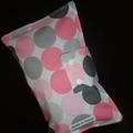 Nappy Wallet - pastel pink & grey spots
