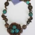 Blue Mosaic Turquoise and Bronze Robins Nest bracelet