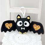 Bat felt softie toy, black, boy, free postage, made to order