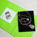 Simplicity- Rose quartz drop short silk necklace