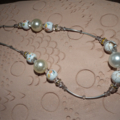 Pearly Dreamer...SALE  necklace Swarovski crystal white cream gold