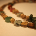 Natural stone necklace in browns, greens and a touch of black
