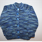 Baby Boys Variegated Blue Cardigan to fit 3 to 6 months.