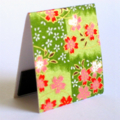 Magnetic bookmark (large) - green floral Japanese chiyogami