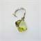 Lemon Quartz cushion checkerboard sterling silver enhancer pendant