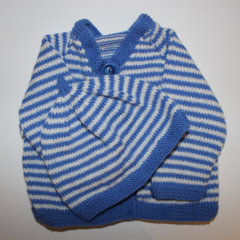 Baby Boys Cardigan and Matching Beanie to fit size 
