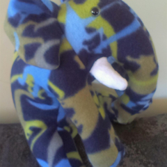 Eddy the blue and green dinosaur print Elephant