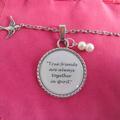 Anne of Green Gables Necklace,Pendant,True Friends,Friendship Jewellery