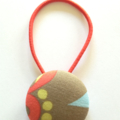 38mm fabric button hairtie