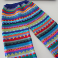 Brightly coloured pants - Size 9 months - Hand knitted in Pure Wool