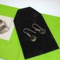 Tiger eye briolettes sterling silver earrings
