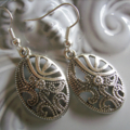 1 x silvertone drop earring beautiful designs in different earrings available