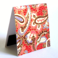 Magnetic bookmark (large) - red paisley Japanese chiyogami