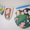 'The Poky Little Puppy' Vintage Golden Book Bunting for Children