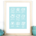 The Tea Guide A4 Print -Perfect for housewarming, bridal shower, birthday gift