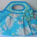 Medium sized handheld handbag in Amy Butler fabrics