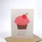 Happy Birthday Card - Girl - Cupcake Pink Polkadots - HBC072