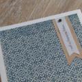 Elegant Blue & Ivory Birthday Card