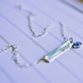 Name Necklace 'Nina Proudman' Style Bar Necklace Personalised Birthstone