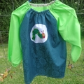 Art smock for 3 - 4 year old, Very Hungry Caterpillar. S22.