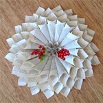 French Style Paper Wreath X-Large - Recycled Vintage Book