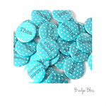 Blue polka dot badge - 10 Hens Party badges