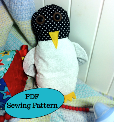 Pepper the Penguin PDF Sewing Pattern, suit beginner, quick, easy ...