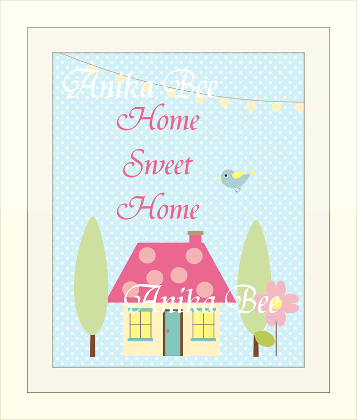 picture about Home Sweet Home Printable called Printable Household Lovable Household Wall Artwork The Paper Princess upon
