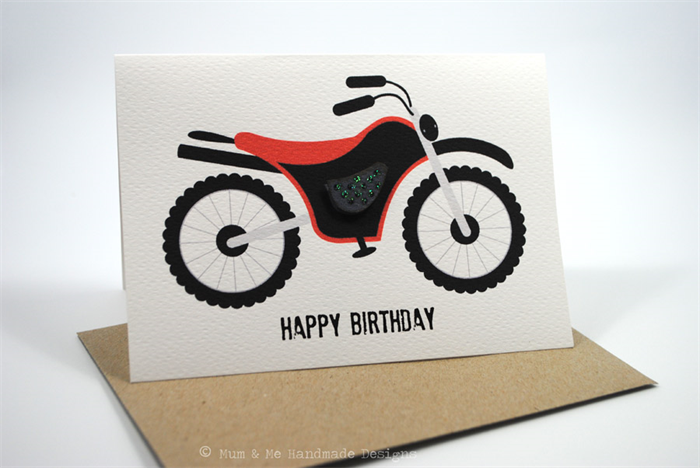 Happy Birthday Card Pack Male Set of 3 Cards CP3001 – Motorbike Birthday Cards