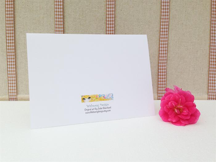 American Indian Princess Blank Greeting Card Girls Birthday