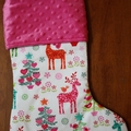 Personalised Christmas Stocking - Nordic Reindeer