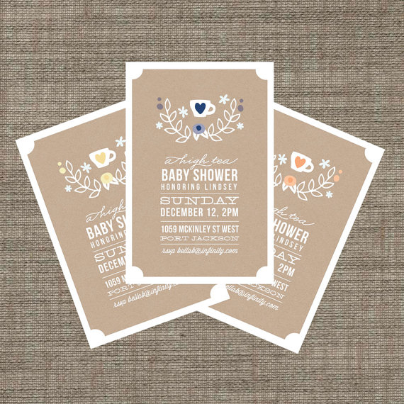 High tea baby shower invitation tea party invite boy or girl high tea baby shower invitation tea party invite boy or girl printable filmwisefo