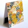 Magnetic bookmark - brown leaf Japanese chiyogami