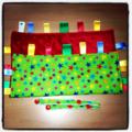 UNISEX GREEN RAINBOW STARS Baby Security Blanket Blankie Taggie Toy
