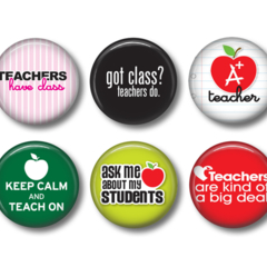Teacher 2 - set of 6 fridge magnets
