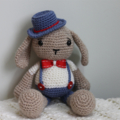 Toy Bunny Hand Crocheted Amigurumi Soft Toy Nursery Decor ready to ship