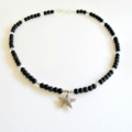 Silver Hill Tribe Silver, Onyx and Lava Stone Necklace