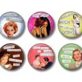 Fridge magnets - Sassy Ladies - set of 6 fridge magnets