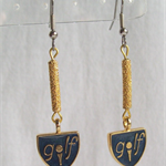 """GOLFING"" Earrings"