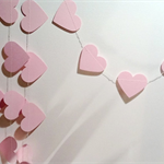 Paper Heart Garland, Baby Pink. Wedding/Engagement/21st/Sweet 16