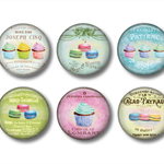 Fridge magnet - Cupcakes and Macaroons - set of 6 fridge magnets
