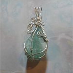Large Fluorite Crystal Wrapped in Silver Plate Wire