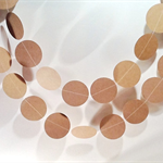 Kraft Card Circle Garland Wedding/Engagement/21st