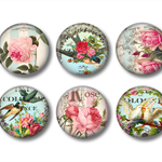 Magnets - Garden Paradise - set of 6 fridge magnets