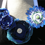 Blooms of Blue Statement Necklace