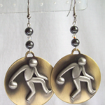 """BOWLING MAN"" Earrings"